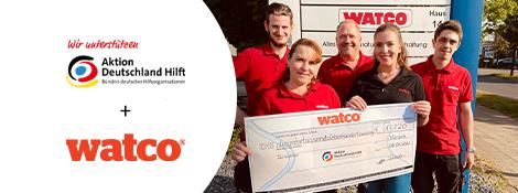 Watco's Hochwasser-Spendenaktion 2021