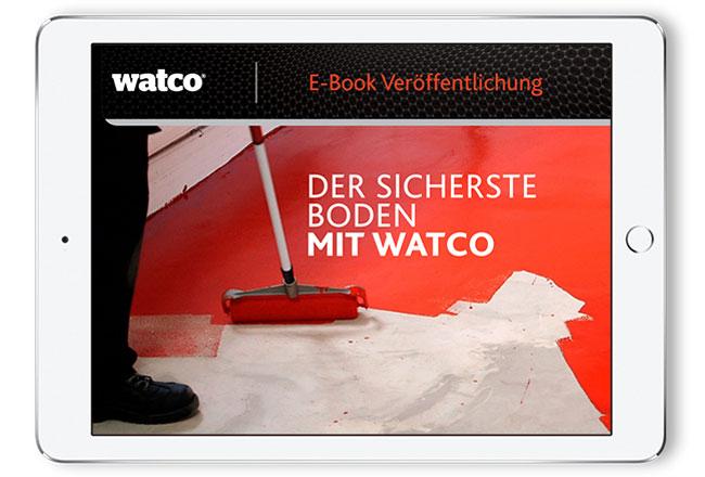 Im Bild: Ein Tablet mit der Titelseite des E-Books geöffnet.