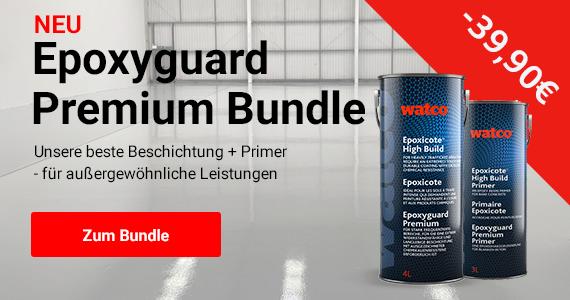 Neu: Epoxyguard Premium Bundle. Unsere beste Beschichtung + Primer, für außergewöhnliche Leistungen. Zum Bundle