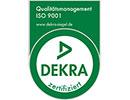 DEKRA ISO 9001 Zertifizierung