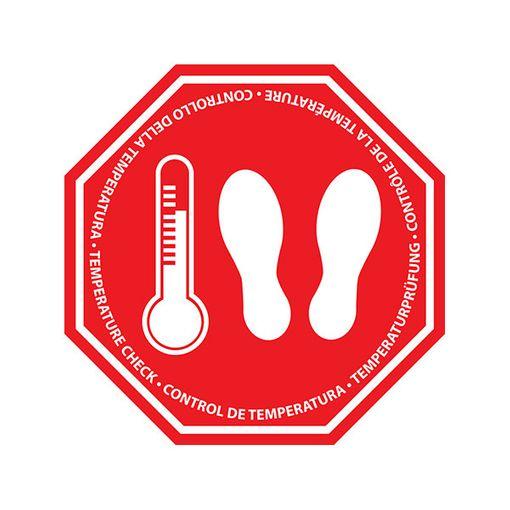 Bodenmarkierung Temperaturprüfung